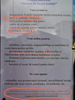 platforma electorala popeasca
