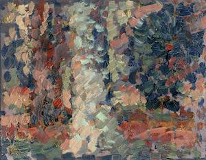 Árboles, óleo s/tabla, 13 x 15