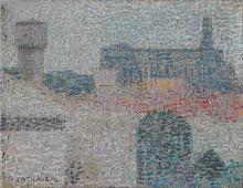 Shopping y Usina, Óleo s/tela, 16 x 24