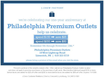 Jersey shore premium outlets vip coupon book
