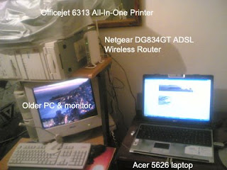 Computer setup at home
