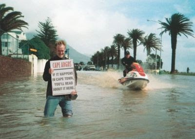 This pic was taken a few years ago in Camps Bay's beach road!