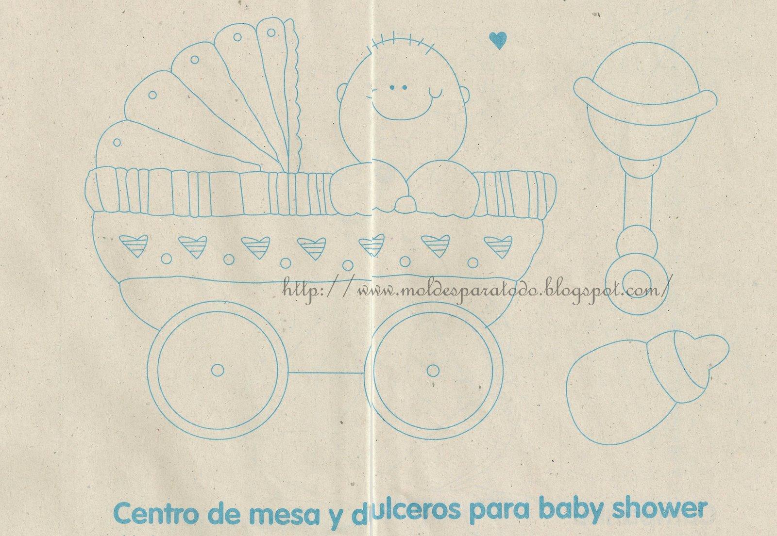 Centro De Mesa Y Dulceros Para Baby Shower