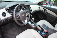 2011 Chevy Malibu family car interior view