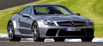 2010 Mercedes SL65 AMG black concept front view