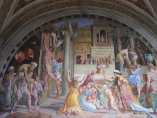 Vatican Museum wall detail