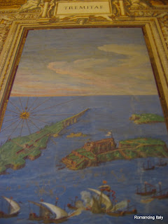 Painting of Tremiti islands, corridor wall Vatican Museum