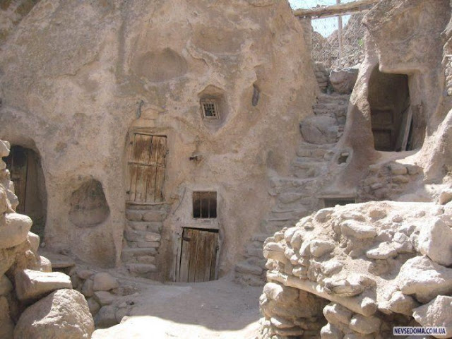 700 years old stone houses in Iran  picture