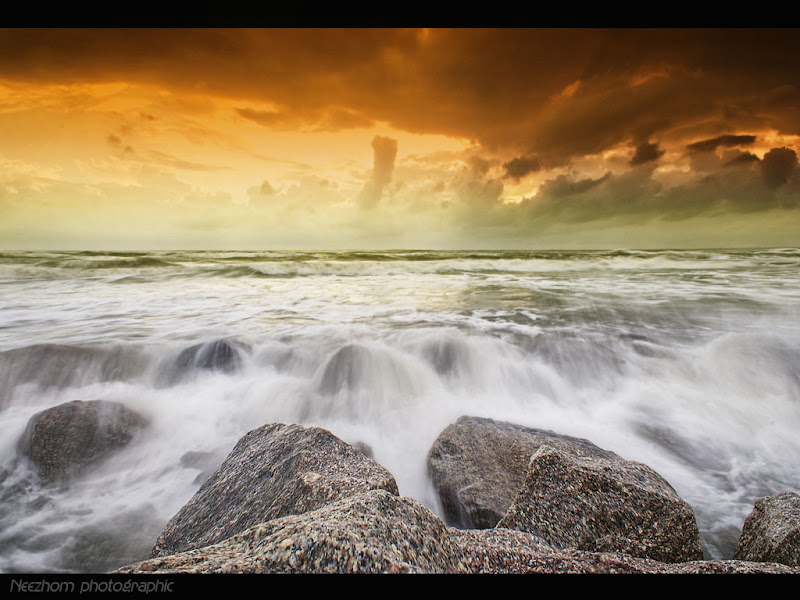 Gambar air terjun dari laut - Pantai Kuala Ibai