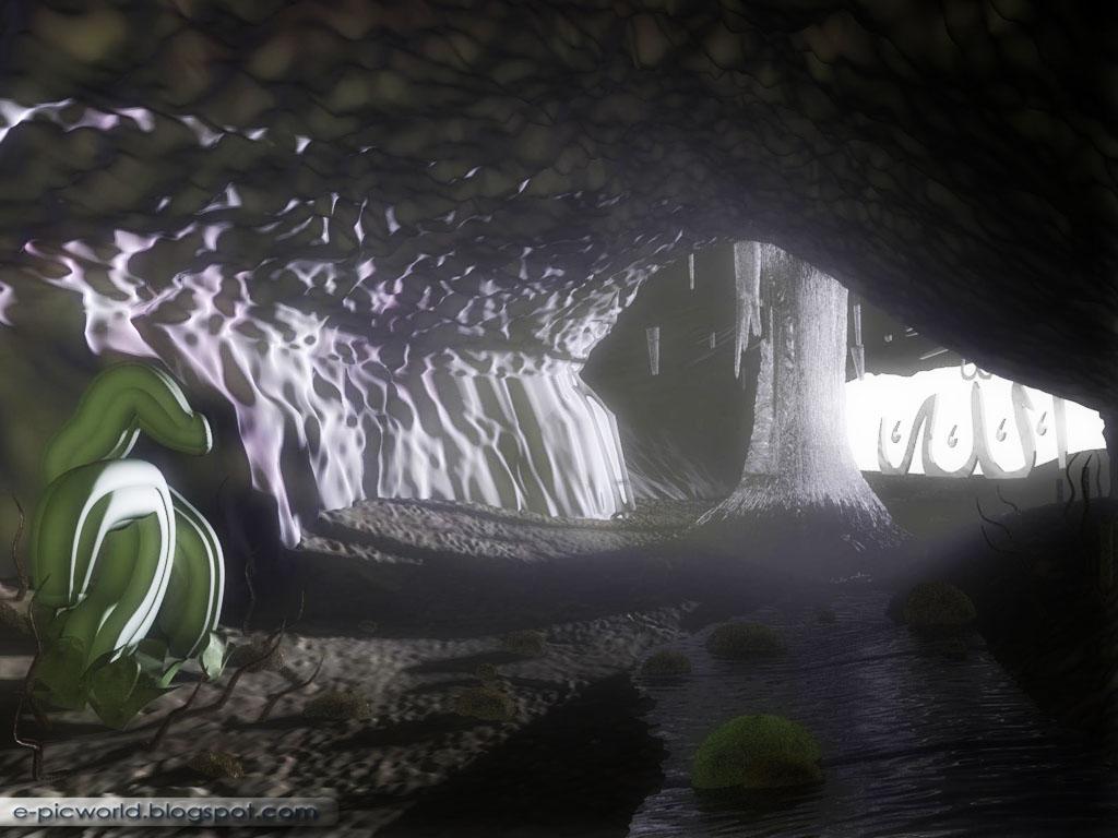 3D Cave wallpaper