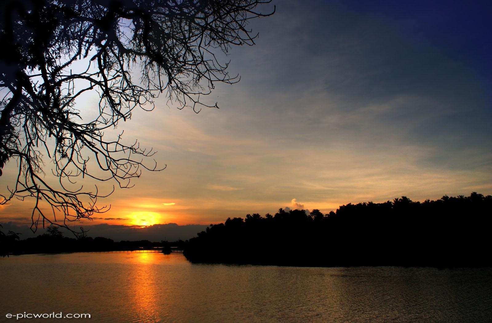 Sunset di kampung Losong