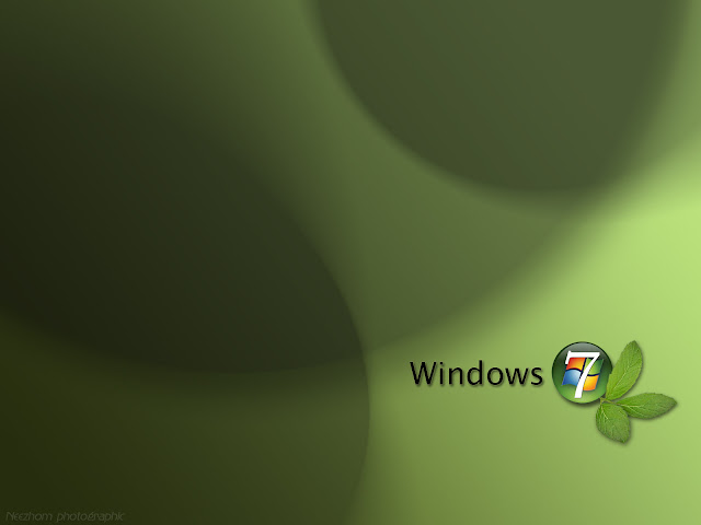 Windows 7 wallpaper - Mint seven