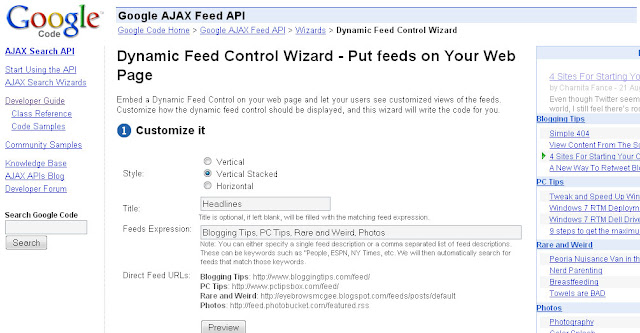 Dynamic Feed Control Wizard image