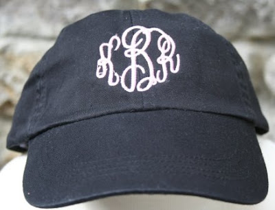 The Polka Dot Pony: Monogrammed Sun Hats!