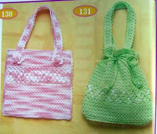 bolsos muy juveniles para esos días especiales fabricado a crochet