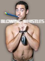 blowing whistles