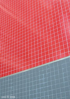red and grey tiles