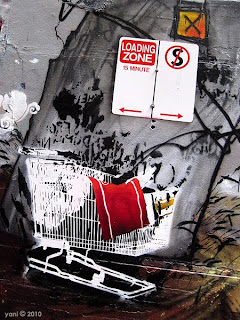 melbourne shopping trolley street art