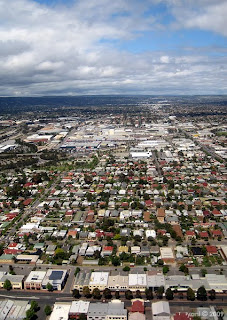 suburban adelaide from above