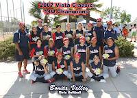 Bonita Valley 14U 1st Place Vista 2007