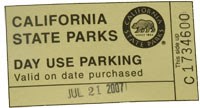 $8.00 Parking Stub