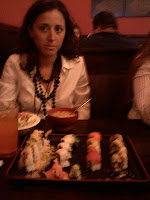 Gloria NOT sharing her sushi