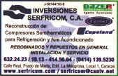 INVERSIONES SERFRICOM, C.A. en Paginas Amarillas tu guia Comercial