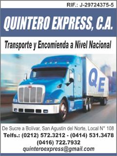 QUINTERO EXPRESS, C.A. en Paginas Amarillas tu guia Comercial