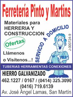 FERRETER�A PINTO Y MARTINS en Paginas Amarillas tu guia Comercial