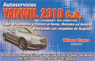 AUTOSERVICIOS YANWIL 2010, C.A. en Paginas Amarillas tu guia Comercial