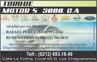 TORQUE MOTOR`S 3000, C.A. en Paginas Amarillas tu guia Comercial