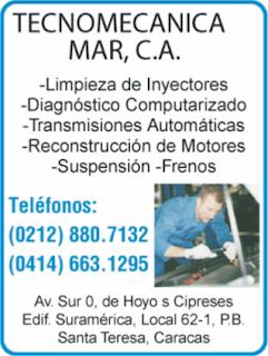 TECNOMECANICA MAR, C.A. en Paginas Amarillas tu guia Comercial