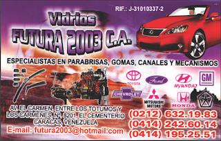 VIDRIOS FUTURA 2003, C.A. en Paginas Amarillas tu guia Comercial