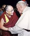 The Dalai Lama meets John Paul II