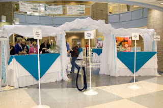 we are gearing up for the annual outer banks wedding association expo weekend this weekend besides our booth setup we are decorating the entrance to the