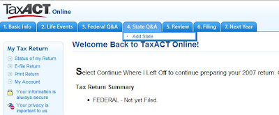 e-File Multiple State Returns with TaxAct Online