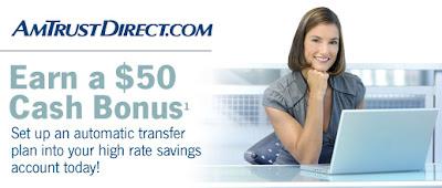 AmtrustDirect's $50 Cash Bonus!
