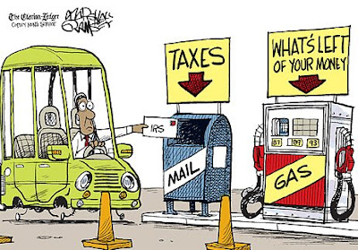Rising Gas Prices and Taxes Make Us Broke?
