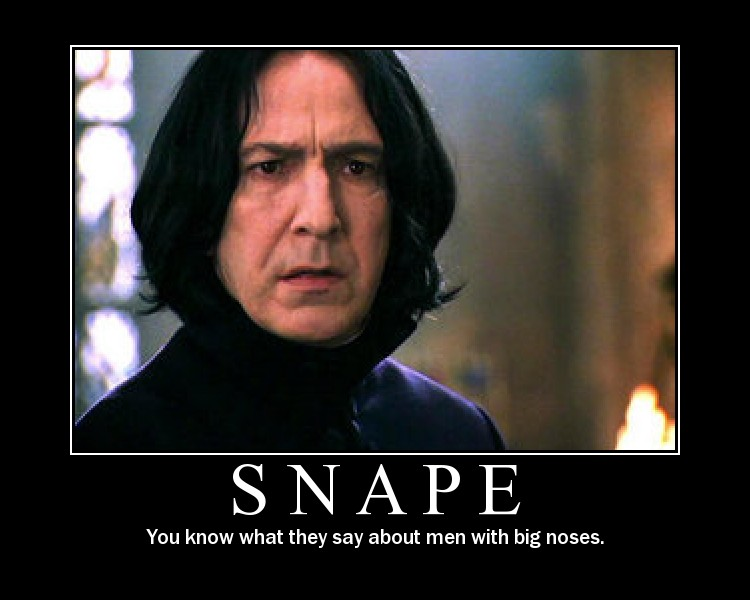 Snape demotivational poster