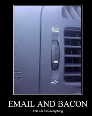 Email And Bacon Demotivational Poster