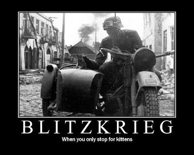 Blitzkrieg Demotivational Poster