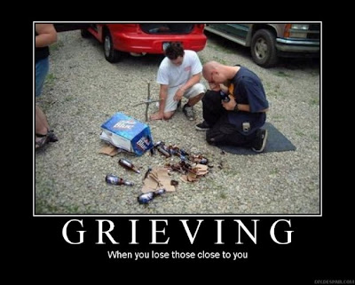 Grieving Demotivational Poster