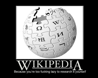 Wikipedia Demotivational Poster