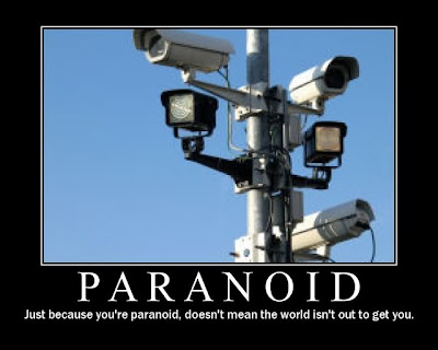 Paranoid Demotivational Poster