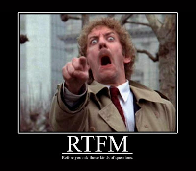 RTFM Demotivational Poster