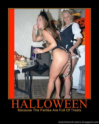 Halloween Parties Demotivational Poster