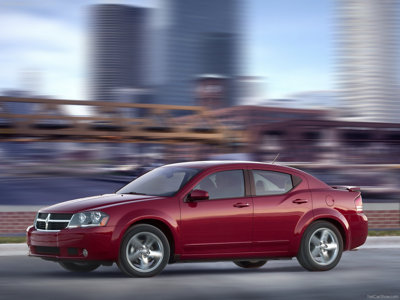 Exterior photo of left front of the 2010 Dodge Avenger above