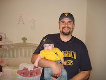 Daddy & AJ - Routing for WVU!  Let's Go Mountaineers!