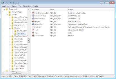 """Activar la opcion """"mostrar archivos y carpetas ocultos"""" en Windows o desactivada por virus 3"""