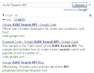 Google AJAX Search API
